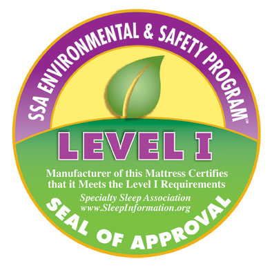 Certified Safe and Eco-Friendly by the Specialty Sleep Association